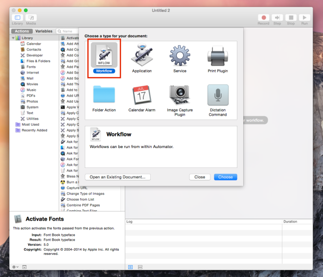 Open a list of URL's in Google Chrome using Mac Automator